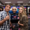 Sylvester Stallone Visits Miguel Cotto at Wild Card Boxing Club