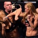 Pesaje Oficial UFC 193: Holly Holm (134) VS Ronda Rousey (134)