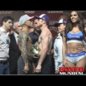 Video: Official Weigh-in: Miguel Cotto 153.5 vs. Canelo Alvarez 155