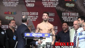 Video: Official Weigh-in: Randy Caballero 123.5 vs. Lee Haskins 117.5