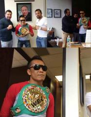 El 'Bandido' Vargas recibió cinturón W.B.C.