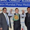 Entrega de Cinturón CMB a Saúl Canelo Alvarez