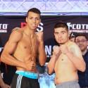 Resultados pesaje Boxeo al máximo en Caguas: Alberto Mercado 130.6lbs  vs- Jose Luis Araiza 131.8lbs