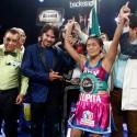 """Guadalupe """"Lupita"""" Martínez estrena su condición de campeona Plata WBC en el Calorex Box Tour 2016"""