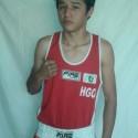 Luis Pasarán Fortuna, a su primer combate profesional