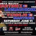 TOMORROW! Felix Verdejo Bronx Public Workout – 1 PM