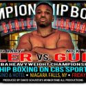 Weights from 'Championship Boxing on CBS Sports Network' at Seneca Niagara Resort & Casino