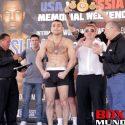 "Video: Official Weigh-in: David ""Ava"" Avanesyan 146.7lbs vs ""Sugar"" Shane Mosley 146lbs"