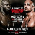 UFC® presenta GLORY super fight 31®: Mwekassa vs. Bouzidi
