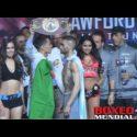 Video: Offcial Weigh-in: Oscar Valdez 126 vs. Matias Rueda 125