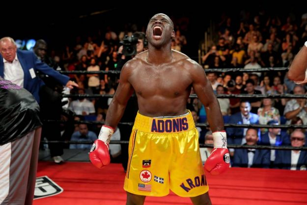"Light heavyweight world champion Adonis ""Superman"" Stevenson"