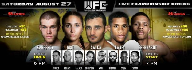 Lopez Out, Rod Salka to Face Justin Savi Saturday at WFC 57 in Pittsburgh