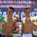 Pesaje Oficial: Marcos Villasana jr. 60.00 Kgs. vs. Rosekie Cristóbal 60.100 Kgs.