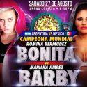 Daniela Bermúdez vs. Barby Juárez este sábado en México por eliminatoria CMB