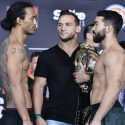 "Bellator Official Weigh-in: Benson Henderson (156) vs. Patricio ""Pitbull"" Freire (155.4)"