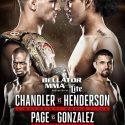 Michael Chandler vs. Benson Henderson in a Bellator Lightweight World Championship Match Nov. 19 in San Jose