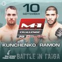 Solid M-1 Challenge 70 main card set Eduardo Ramon newt opponent for Alexey Kunchenko in non-title fight headliner