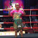 Azteca Ana Arrazola obtiene el cinto Plata minimosca del C.M.B.