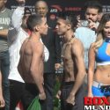Video: Official Weigh-in: Oscar Valdez 125.3 vs Hiroshige Osawa 125.3
