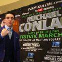 El dos-veces olímpico irlandés Michael Conlan debutará el 17 de marzo — Día de San Patricio — en El Garden