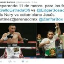 Juan Francisco Estrada / Posible reaparición el 11 de marzo