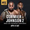 Cormier vs Johnson 2 headlines UFC 210