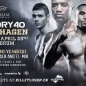 Wilnis VS. Marcus III headlines GLORY 40 Copenhagen on Saturday, April 29