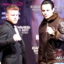 Video: CANELO VS CHAVEZ JR NEW YORK PRESS CONFERENCE/FACE OFF