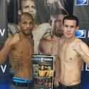 Los boricuas Alberto Mercado y Jayson Vélez cumplen con el pre-pesaje para la cartelera 'Directv Boxing Nights'