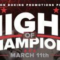 "Lightweight Manuel Mendez Headlines ""Night of Champions"" Saturday, March 11"