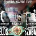 Claressa Shields y Szilvia Szabados se enfrentan por título NABF
