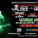 Oscar Valdez expondra su corona el 22 de Abril