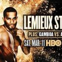 HBO Boxing After Dark Live from Verona, NY Saturday Night with Lemieux vs. Stevens