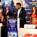 Video: GOLOVKIN VS JACOBS FINAL PRESS CONFERENCE AND FACE/OFF