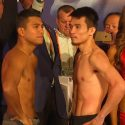 "Video: Official Weigh-in: Roman ""Chocolatito"" Gonzalez: 114.6 lbs. vs. Srisaket Sor Rungvisai: 114 lbs."