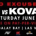 """Andre Ward vs. Sergey Kovalev II """"No Excuses"""" – June 17 at Mandalay Bay"""