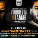 Former enfusion champion Ismael Lazaar to face Rico Verhoeven at GLORY 41 superfight series