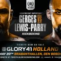 Glory 41 Holland and Glory 41 superfight series fight cards finalized
