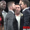 Video: First Face Off between Canelo Alvarez vs Genaddy 'GGG' Golovkin for their Sept. bout