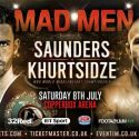 Saunders faces mandatory challenger Khurtsidze on July 8 at the Copper Box Arena