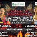 AMB define autoridades Cordero vs Cardozo el 21/7 en Barranquilla