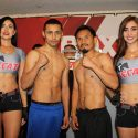 Pesaje Oficial: Moisés Fuentes 115 lbs  vs.  Ulises Lara 113.5 lbs