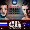 Lebedev utilizó su oficio de veterano para vencer ampliamente a Flanagan