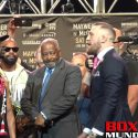 Video: Floyd Mayweather and Connor McGregor face off at L.A Announcement presser