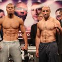 "Official Weigh-in: CHRIS EUBANK JR.167 ½ lbs. vs. vs.""King"" ARTHUR ABRAHAM 168 lbs."