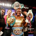 Claressa Shields wins WBC & IBF super middlewieght world titles in fourth pro fight