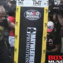 Video: Floyd Mayweather Jr. works the heavy bag for the media pre McGregor fight