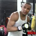 Video: Chris Eubanks Jr hits the heavy bag at Mayweather gym before fight with Avni Yildirim
