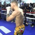 Video: Conor McGregor in the ring working out for the media