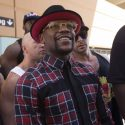 Floyd Mayweather and Conor McGregor make their Las Vegas arrivals